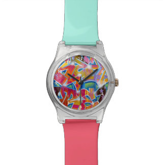 Reloj del diseño de la pintada