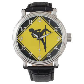 """Reloj del diseño del bailarín de poste"" Reloj De Mano"