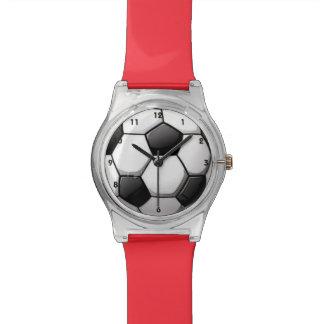 Reloj del diseño del balón de fútbol