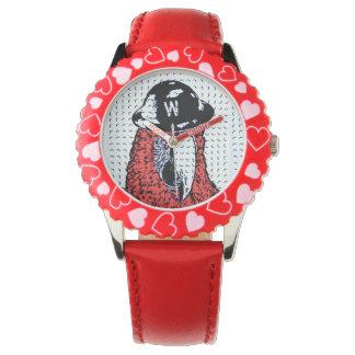 Reloj del diseño del ladrillo del juguete del