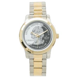Reloj del dólar cuarto