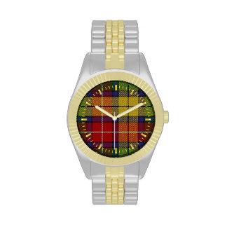 Reloj del Dos-tono del tartán de Buchanan