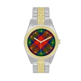 Reloj del Dos-tono del tartán de Lindsay