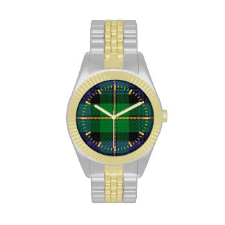 Reloj del Dos-tono del tartán del clan de Gordon