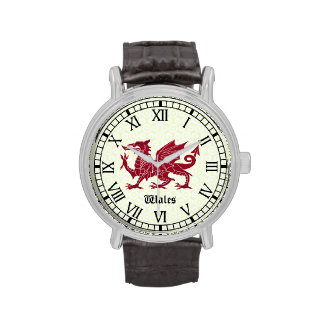 Reloj del dragón Galés - números romanos