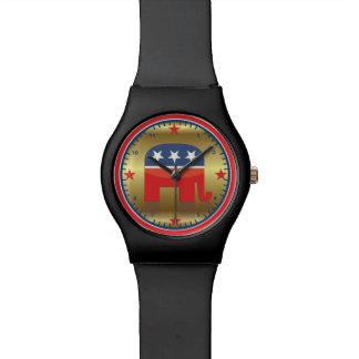 Reloj del elefante del Partido Republicano