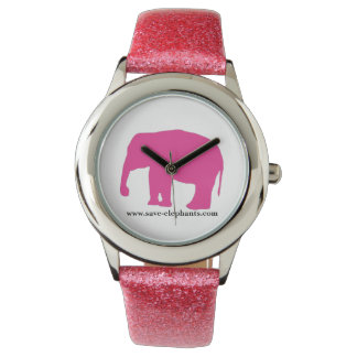reloj del elefante rosado de los chicas de