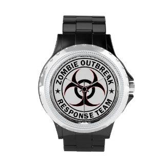 reloj del equipo de la respuesta del zombi