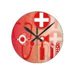 Reloj del equipo del doctor y de la enfermera del