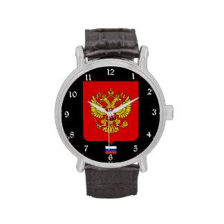 Reloj del escudo de armas de Rusia