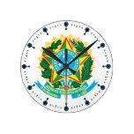 Reloj del escudo de armas del Brasil