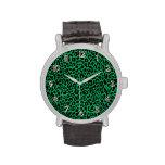 Reloj del estampado de animales de Leoopard del ve