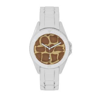 Reloj del estampado de girafa