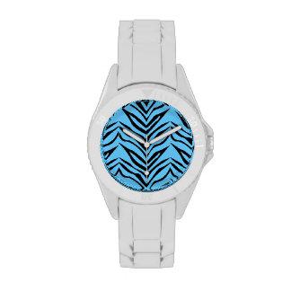Reloj del estampado de zebra
