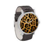 Reloj del estampado leopardo
