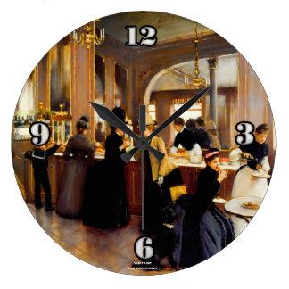 Reloj del estilo del vintage con arte del Shoppe