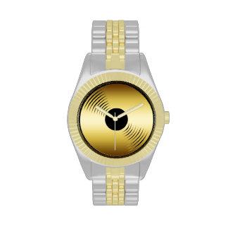 Reloj del expediente del oro