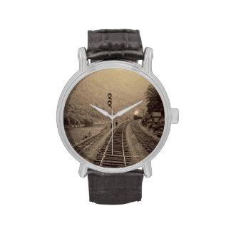 Reloj del ferrocarril y del tren - Railroad la