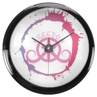 """Reloj del fishbowl de la libertad (10"""" diámetro; c reloj acuario"""