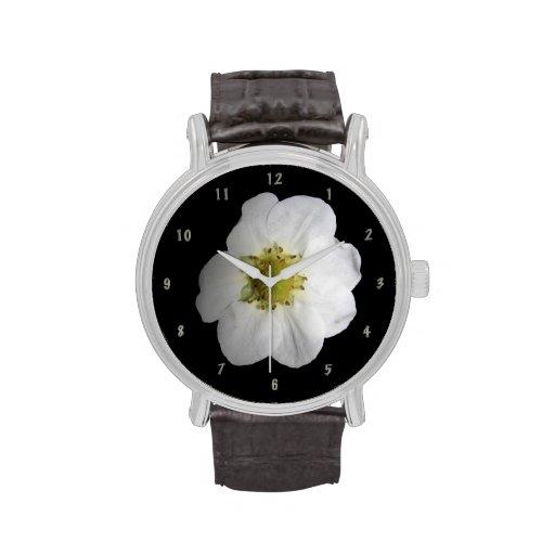 Reloj del flor de la fresa