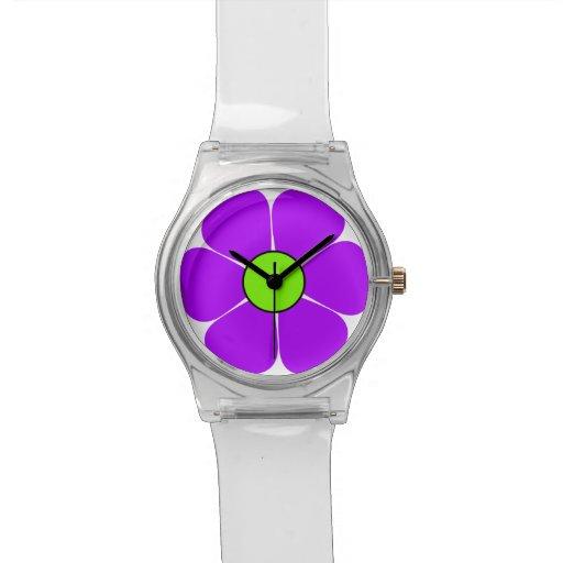 Reloj del flower power