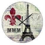 Reloj del francés de la torre Eiffel