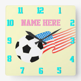 Reloj del fútbol: fútbol del vintage 80s