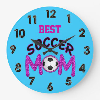 Reloj del fútbol para la mejor mamá del fútbol
