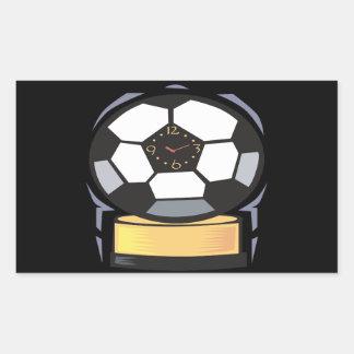 Reloj del fútbol pegatina rectangular