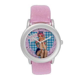 Reloj del gatito del Rockabilly