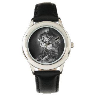 Reloj del gato de Coon de Maine (niño)