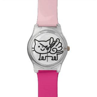 Reloj del gato del ala