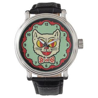 reloj del gato del vintage de los años 40