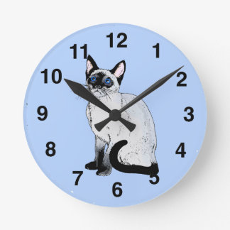 Reloj del gato siamés