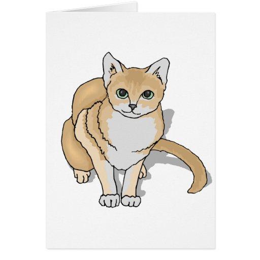 Reloj del gato tarjeton