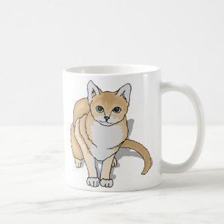 Reloj del gato tazas de café