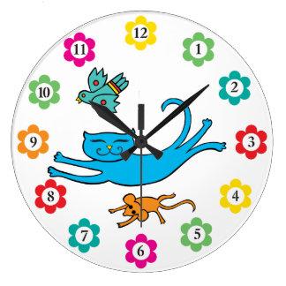 Reloj del gato y del ratón