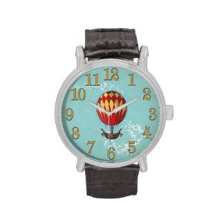 Reloj del globo del aire caliente de Steampunk del