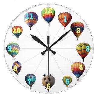 Reloj del globo del aire caliente