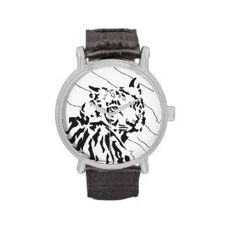 Reloj del gráfico del tigre