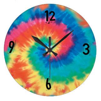 Reloj del Hippie del teñido anudado - el texto pue