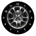 Reloj del hubcap de la rueda de coche con números