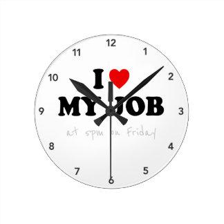 Reloj del humor de la oficina - amor de I mi