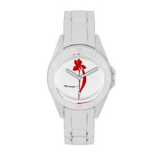 Reloj del iris del rojo anaranjado de PRLimages
