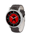 Reloj del jugador de LaCrosse - rojo/negro
