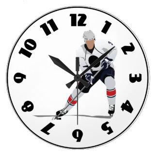 Reloj del jugador del hockey sobre hielo