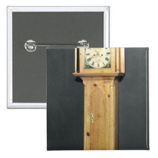 reloj del Largo-funda, con la pintura del esmalte Pin Cuadrado
