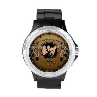 Reloj del lobo de las naciones del reloj de Metis