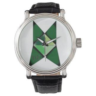 Reloj del logotipo de las producciones del lobo de