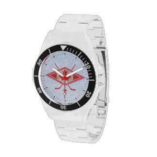 Reloj del logotipo del hockey de Canadá del canadi